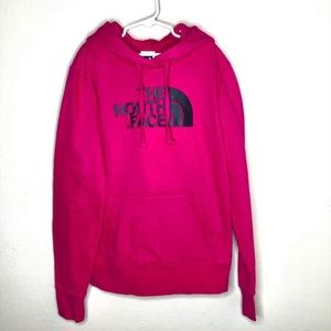 North Face Pink Pullover Graphic Hoodie